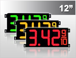 12 Gas Price LED Signs