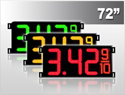 72 Gas Price LED Signs