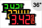 36 inch Gas Price Signs