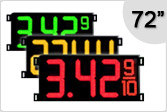 72 inch Gas Price Signs