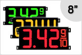 8 inch Gas Price Signs