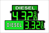 Diesel Gas Price LED Signs
