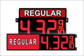 Regular Gas Price LED Signs