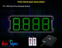 Gas Price LED Sign 12 inch - 8.888 Green Sign