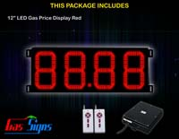 Gas Price LED Sign 12 inch - 88.88 Red Sign
